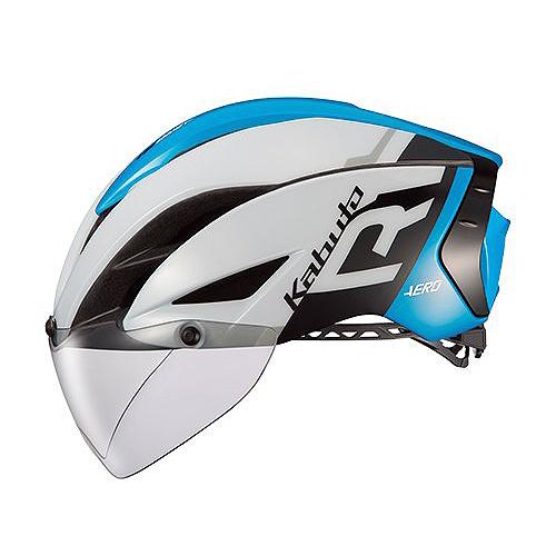 【人気商品!】 送料無料 OGK KABUTO(オージーケーカブト) ヘルメット エアロ-R1 G1ホワイトブルー S/M, プロモショップ 3504a932