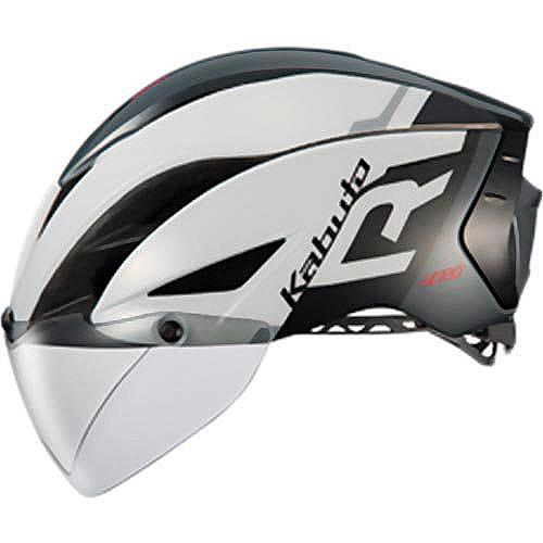 送料無料 OGK KABUTO(オージーケーカブト) ヘルメット エアロ-R1 G1ホワイトダークグレー XS/S
