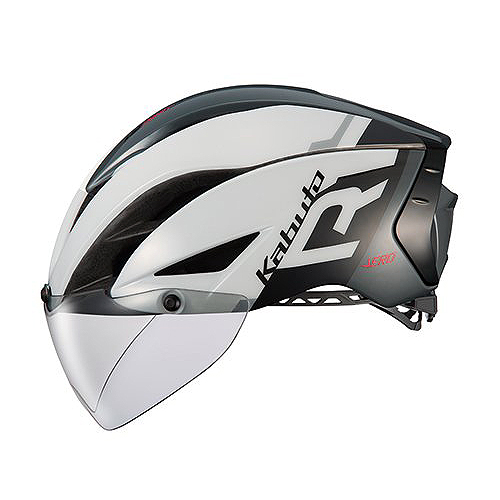 送料無料 OGK KABUTO(オージーケーカブト) ヘルメット エアロ-R1 G1ホワイトダークグレー L/XL