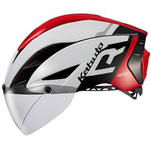 送料無料 OGK KABUTO(オージーケーカブト) ヘルメット エアロ-R1 G1ホワイトレッド XS/S