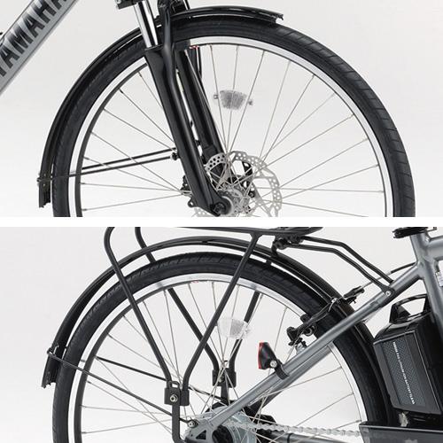 パーツ3,980円(税込)以上で送料無料(沖縄・離島は除く) 【メーカー純正品】【正規代理店品】ヤマハ(YAMAHA) パス(PAS) Brace L/XL用フェンダー(前後セット) Q5K-YSK-051-E37 【自転車用品】