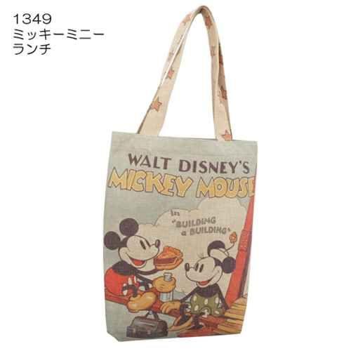 ミッキーマウス ミニーマウス 返品交換不可 大きいトートバッグ 大幅にプライスダウン キャンバストートバッグ