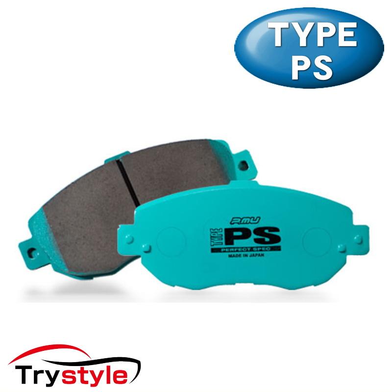 Projectμ プロジェクトミュー TYPE PS F506 タイプPS ストリートスポーツブレーキパッド フロント用左右セット 主な適合:三菱 等 制動力と低ダスト性能を両立させたスポーツパッドのベストバランスモデル!