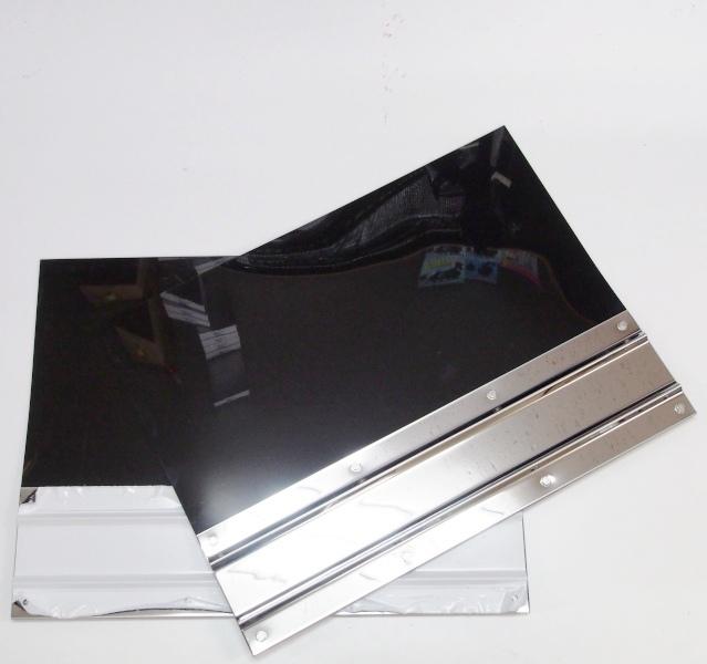送料0円 EVA泥除け3mm 600mm×450mm 低価格 ステンレスプレート折り込み式付 2枚セット
