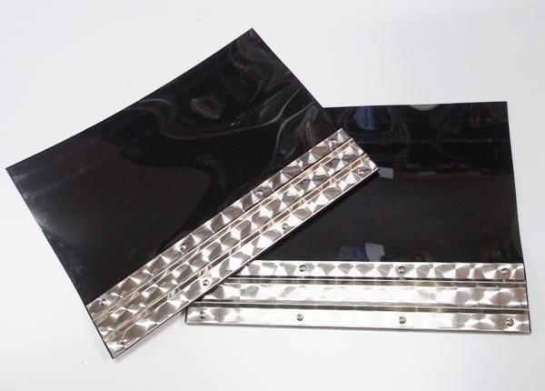 EVA泥除け3mm 600mm×450mm ウロコステンレスプレート付セット 新商品 品質検査済