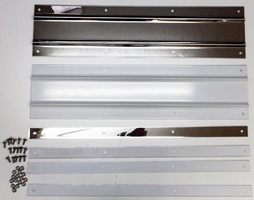 泥除けステンレスプレート 毎日続々入荷 大放出セール 折り込み式600mm×150mm セット