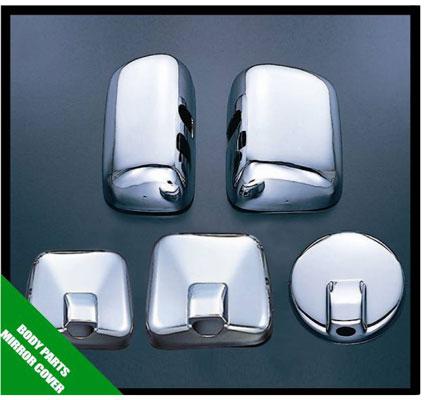 メッキミラーカバー 5点セット 大型車仕様 高品質新品 日野エアループレンジャー 激安超特価