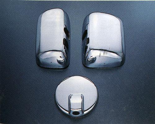 ★ ★ plated mirror cover (set of 3) Hino Ranger Pro-Isuzu NEW forward