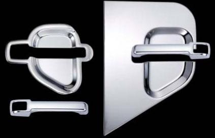 ドアハンドル&ドアハンドルガーニッシュ メッキカバーセット UD4tファインコンドル/大型ビックサム用 4点セット