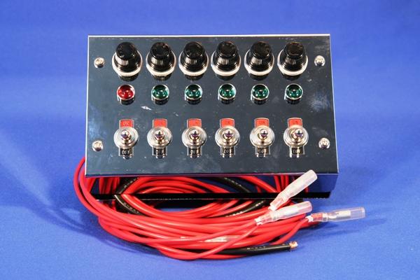 スイッチボックス クロームメッキ 6連用 24V