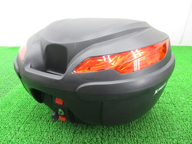 社外 バイク 部品 K-MAX製 リアボックス トップケース 鍵 ベース付き コンディション良好 割れ欠け無し 大容量 【中古】