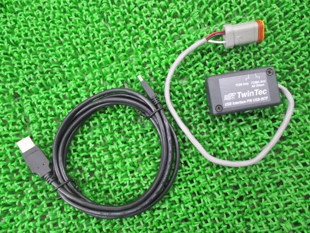 社外 バイク 部品 ツインテック製ハーレー USBコミュニケーションデバイス 社外 4ピン コンディション良好 機能的問題なし 【中古】