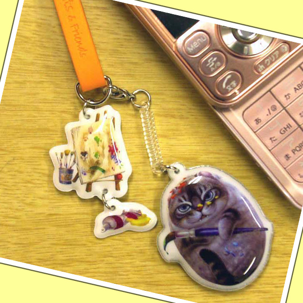 Henry Cats (ヘンリーキャット) まんまる猫犬 携帯クリーナー付ストラップ HenryCats&Friends 【DM便(旧メール便)・ネコポス・ゆうパケット対応】【RCP】【楽天BOX・はこぽす】【はこぽす対応商品】【コンビニ受取対応商品】