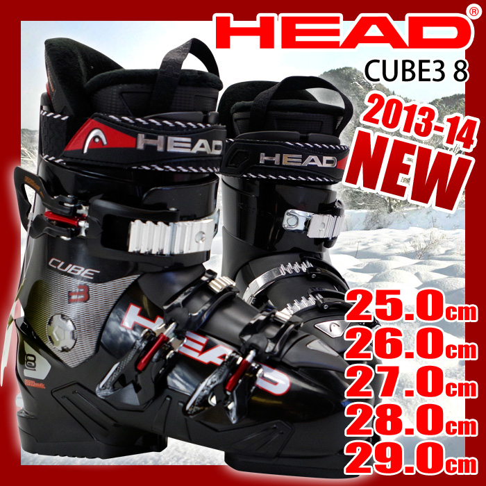 【アウトレット】 ヘッド スキーブーツ HEAD CUBE3 8 ブラック メンズ 25.0/26.0/27.0/28.0/29.0【メール便不可・宅配便配送】