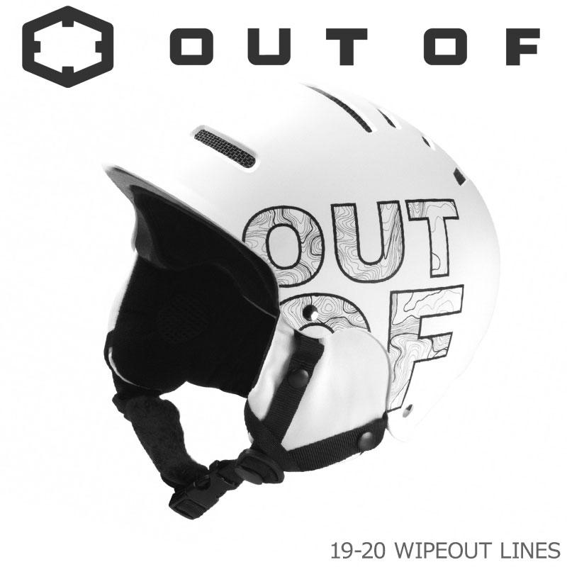 OUT OF アウトオブ スノーヘルメット 19-20 W0H1LIN WIPEOUT LINES 大人用 メンズ レディース スキー スノーボード 【メール便不可・宅配便配送】