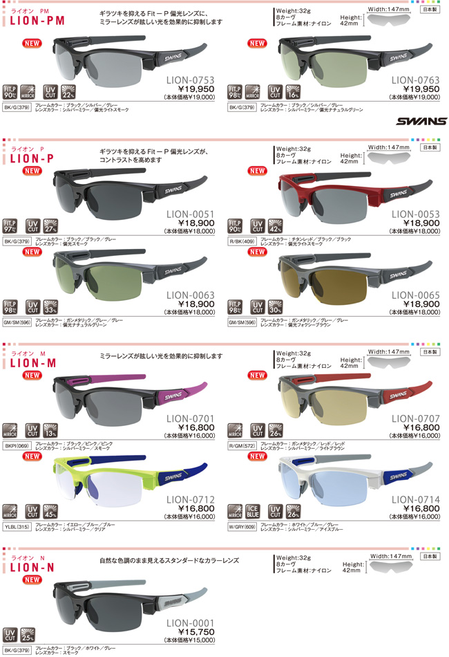 SWANS LION-M LION-0701 BKPI ◇ LION series ◆ lion mirror lens ♪ swans sunglasses