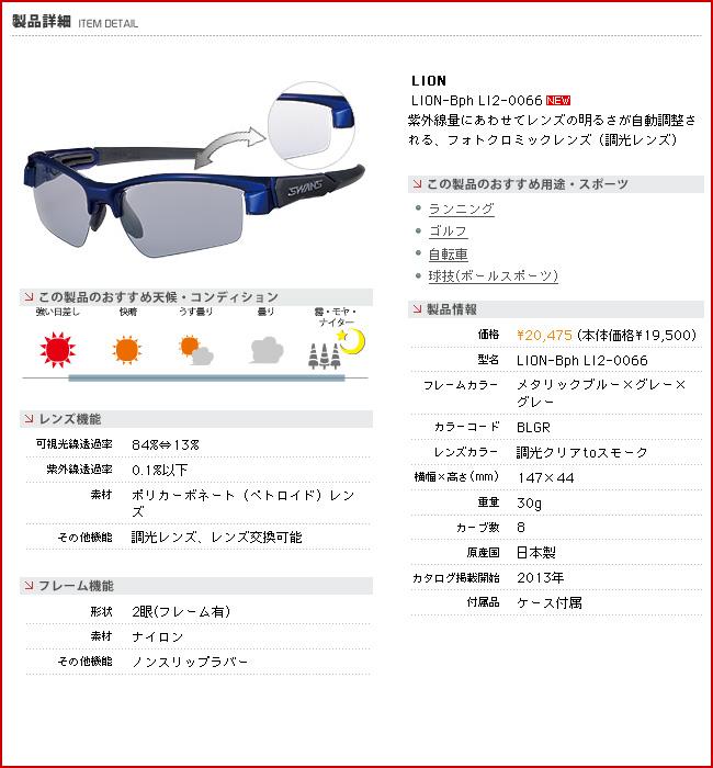 SWANS swans sunglasses LION-Bph LI2-0066 ◆ lion-like light lens swans sunglasses fs3gm
