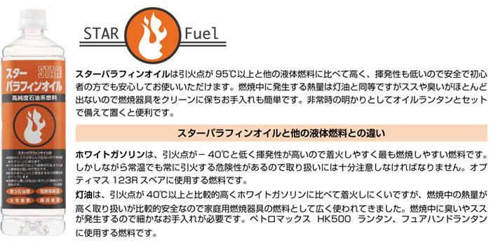 スター商事(STAR Fuel) スターパラフィンオイル 高純度石油系燃料 7007 1000mL 日本製
