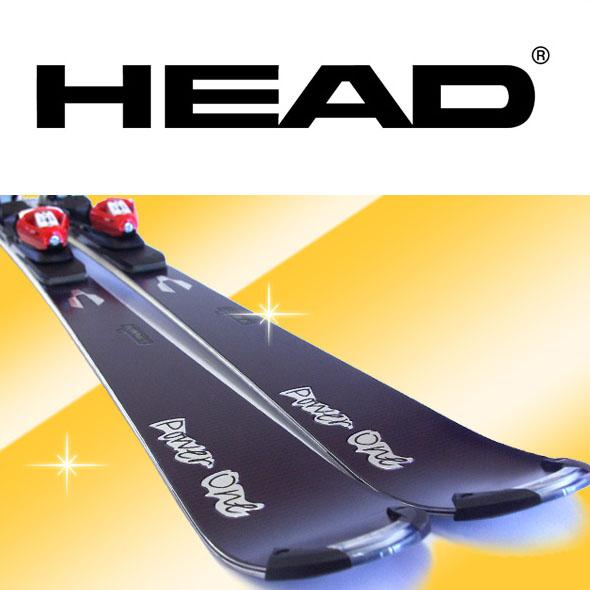 【アウトレット】HEAD ヘッド スキー 2点セット メンズ Power One 163/170 金具付き 中級 上級 カービングスキー キャンバー 【メール便不可・宅配便配送】