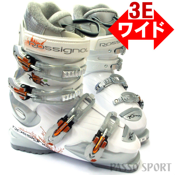 Relaxedly wide size ♪ ROSSIGNOL XENA X6 white ★ 23.0cm .23.5cm .24.0cm .24.5cm .25.0cm .25.5cm ♪ fs3gm