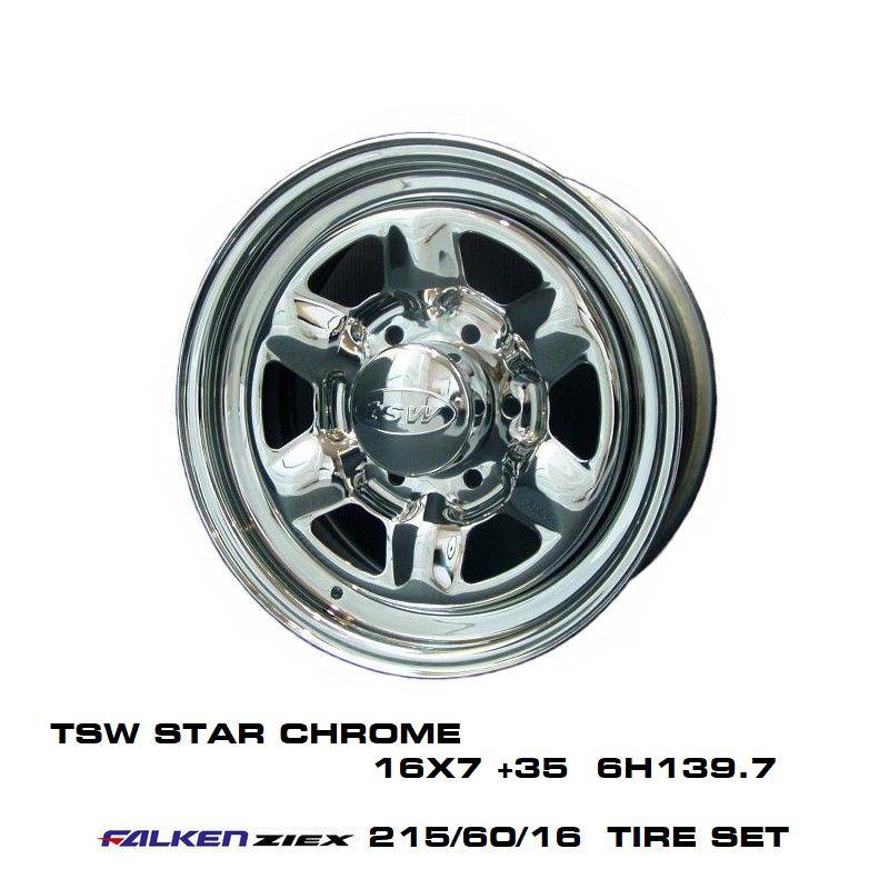 [ギフト/プレゼント/ご褒美] 200系ハイエースT.S.W STAR CHROME 16X7.0J 2020A W新作送料無料 +35 6H139.7 ZIEX 60 215 ファルケン 16