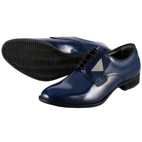 [ジェイド] JADE JD4000 メンズ | 革靴 ダンスシューズ | 編み上げ 本革 エナメルシューズ | 外羽式プレーンタイプ s**tKingzコラボレーション | 小さいサイズ対応 24.5cm | ネイビー×エナメル SP