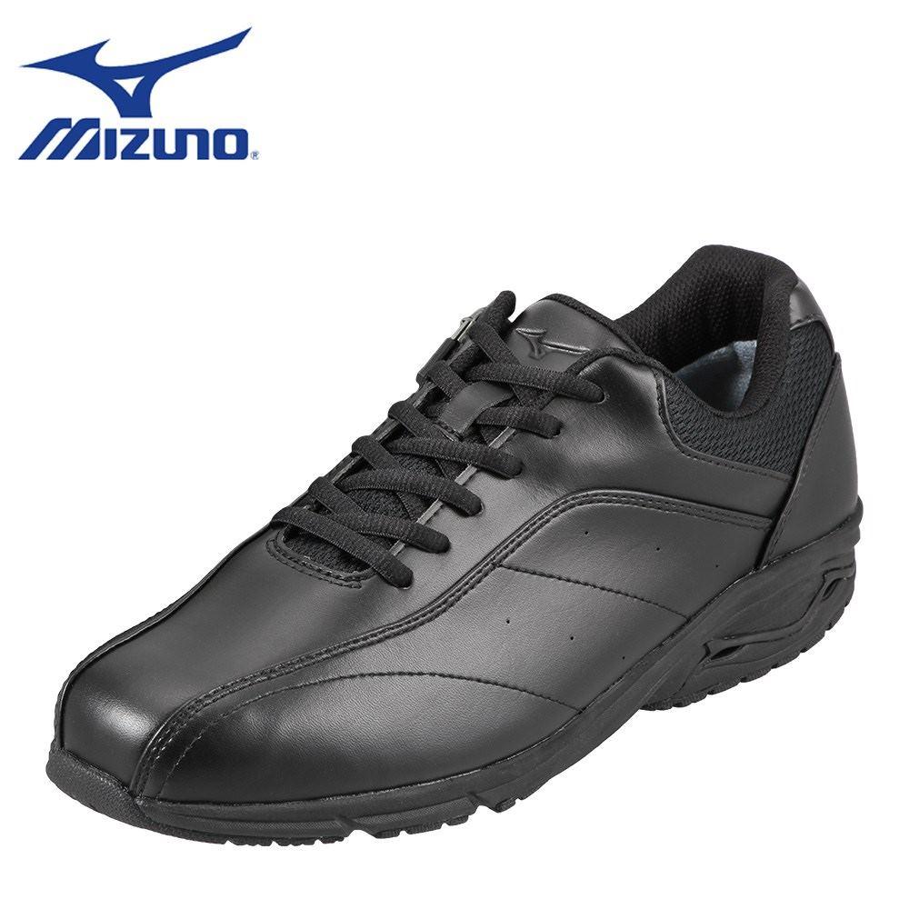ミズノ MIZUNO ウォーキングシューズ B1GR174209 メンズ 靴 靴 シューズ 4E相当 ウォーキングシューズ 防水 ローカットスニーカー 幅広 クッション性 小さいサイズ対応 24.5cm ブラック SP