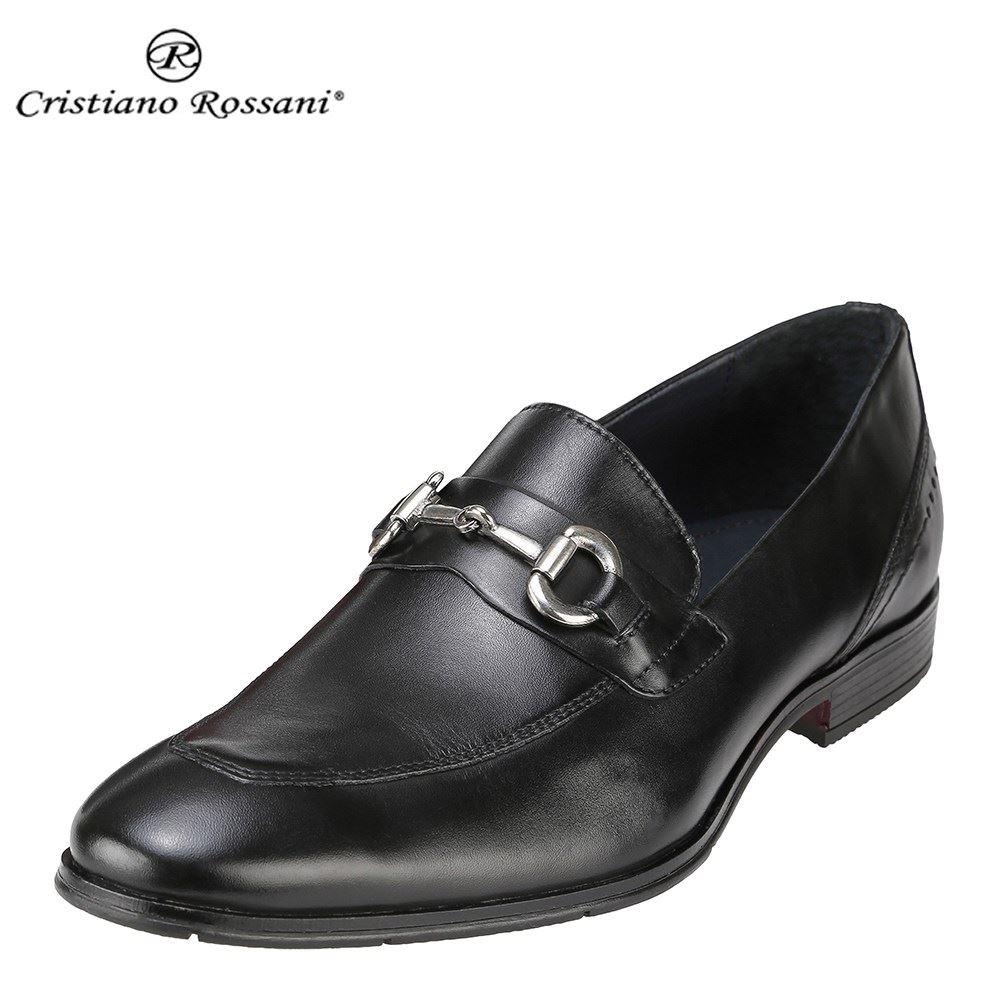 クリスチアーノ・ロザーニ Cristiano Rossani ビジネスシューズ 1005 メンズ 靴 シューズ 3E相当 ビジネスシューズ 本革 スリッポン ビット 幅広 ロングノーズ 小さいサイズ対応 24.5cm 大きいサイズ対応 28.0cm ブラック SP 取寄