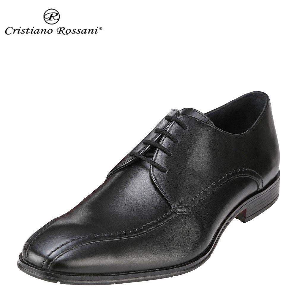 クリスチアーノ・ロザーニ Cristiano Rossani ビジネスシューズ 1006 メンズ 靴 シューズ 3E相当 ビジネスシューズ 本革 スリッポン ビット 幅広 ロングノーズ 小さいサイズ対応 24.5cm 大きいサイズ対応 28.0cm ブラック SP 取寄