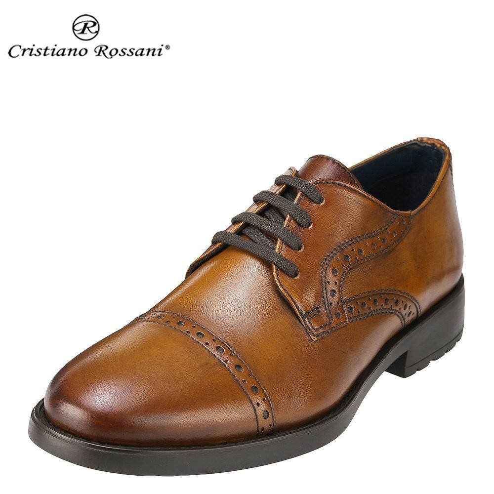 クリスチアーノ・ロザーニ Cristiano Rossani カジュアルシューズ 3002 メンズ 靴 シューズ 3E相当 レースアップシューズ 本革 トラッド カジュアル 幅広 ストレートチップ 小さいサイズ対応 24.5cm 大きいサイズ対応 28.0cm ブラウン SP 取寄