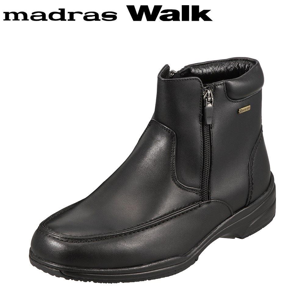 マドラスウォーク madras Walk ブーツ SPMW5479 メンズ 靴 シューズ 4E相当 ショートブーツ 防水 幅広 防滑 歩きやすい 仕事 通勤 ビジネス 小さいサイズ対応 24.5cm ブラック SP
