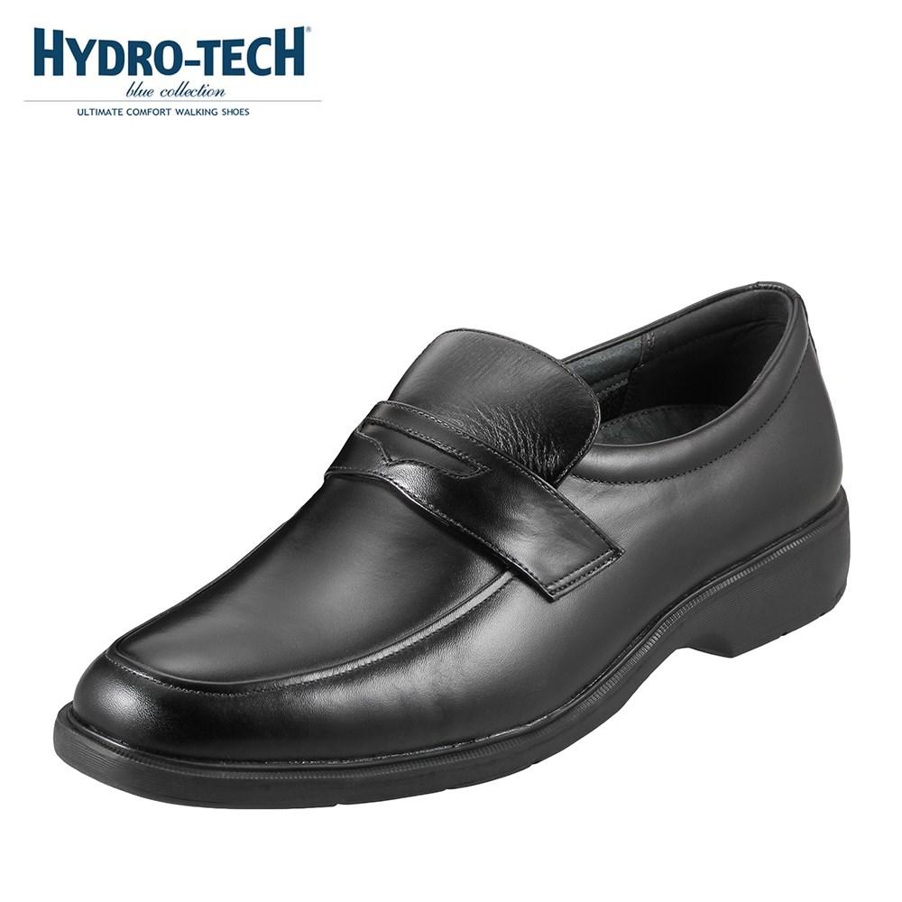 ハイドロテック ブルーコレクション HYDRO TECH ビジネスシューズ HD1326K メンズ靴 靴 シューズ 3E相当 ビジネスシューズ 本革 防水 軽量 スリッポン ローファー 幅広 消臭 速乾 大きいサイズ対応 29.0cm 30.0cm ブラック SP