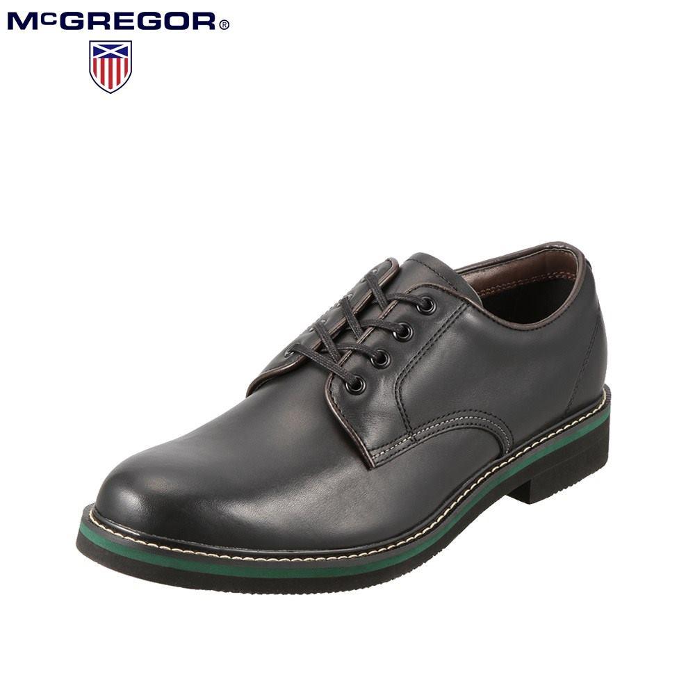 マックレガー McGREGOR ビジネスシューズ MC6750 メンズ靴 靴 シューズ 3E相当 ビジネス 通勤 仕事 本革 外羽根 レースアップ 幅広 ビジカジ 小さいサイズ対応 24.5cm ブラック SP