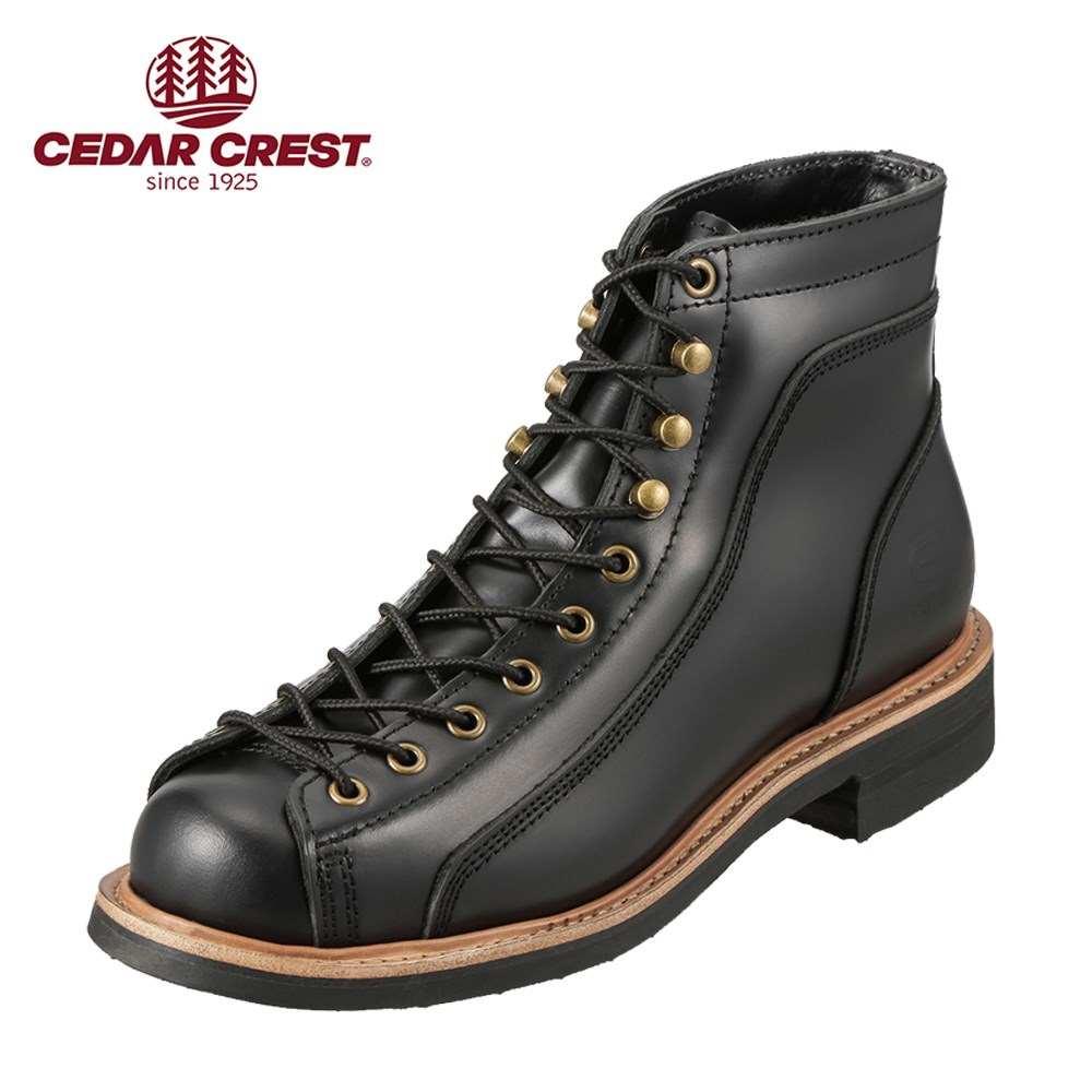 セダークレスト ブーツ CEDAR CREST ブーツ CC-1573 メンズ 靴 シューズ 3E相当 ワークブーツ 本革 レースアップ 幅広 やわらかい 履きやすい 大きいサイズ対応 28.0cm ブラック SP
