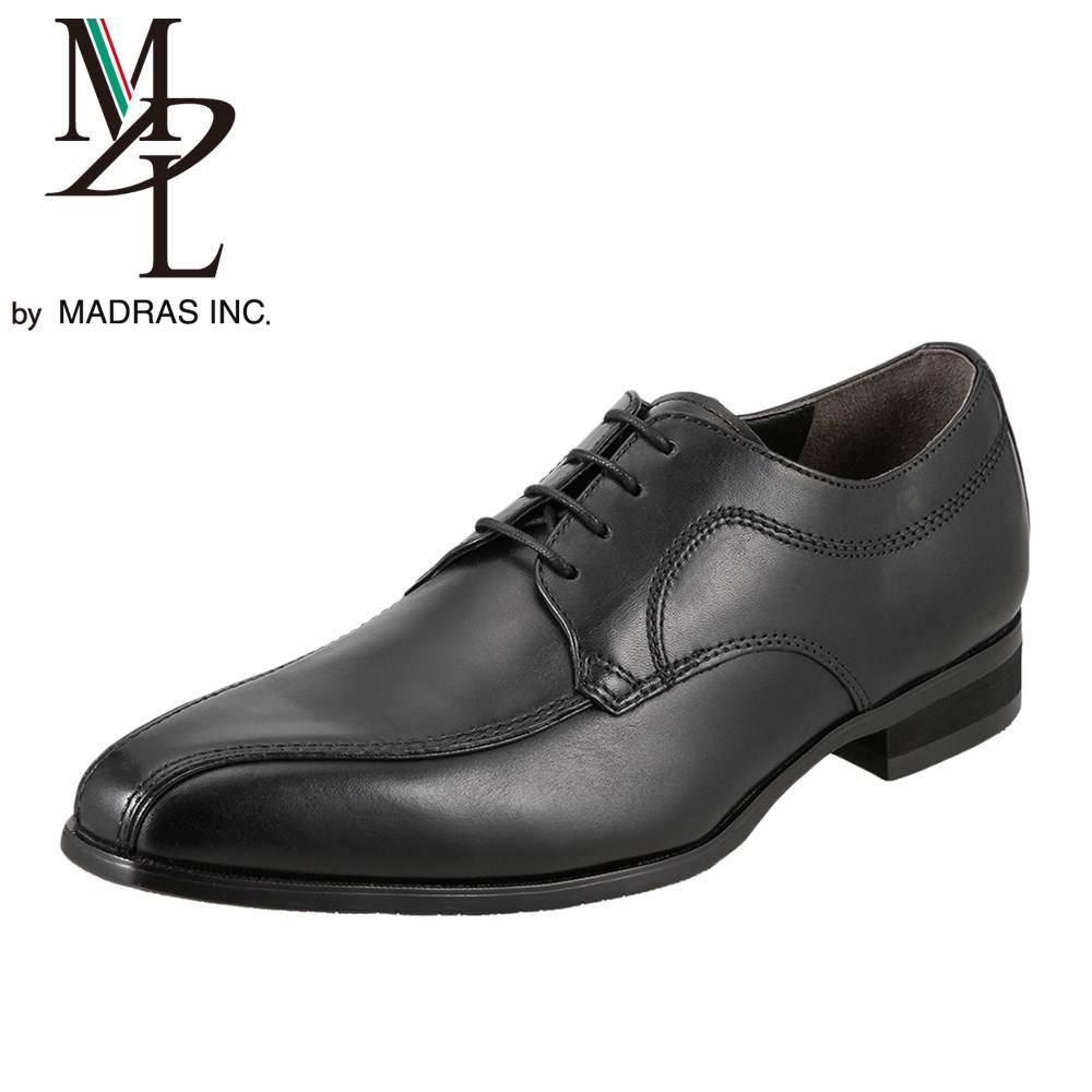 エムディエル MDL ビジネスシューズ DS4060 メンズ靴 靴 シューズ 3E相当 ビジネスシューズ 本革 外羽根 スワールモカ 軽量 幅広 小さいサイズ対応 24.5cm ブラック SP