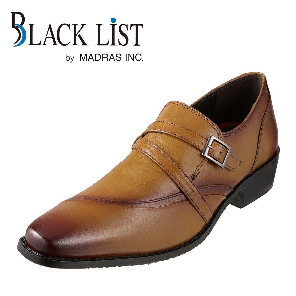 ブラックリスト BLACK LIST ビジネスシューズ BC2517 メンズ靴 靴 シューズ 3E相当 スリッポン 本革 クロスベルト 紐なし ビジネス 仕事 通勤 幅広 3E ロングノーズ 脚長効果 おしゃれ ライトブラウン SP