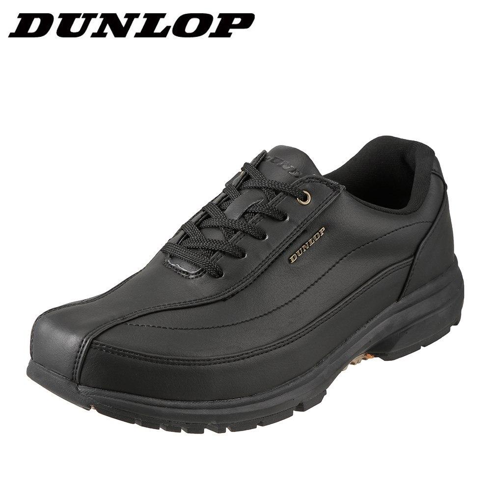 ダンロップ DUNLOP ウォーキングシューズ DW019 メンズ靴 靴 シューズ 4E相当 ウォーキングシューズ ローカットスニーカー 防水 軽量 ブランド 人気 スポーツ 運動 歩きやすい 大きいサイズ対応 28.0cm ブラック SP