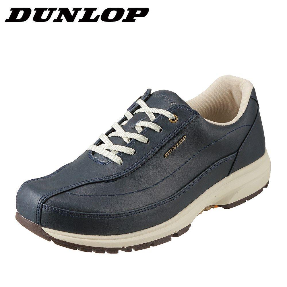 ダンロップ DUNLOP ウォーキングシューズ DW019 メンズ靴 靴 シューズ 4E相当 ウォーキングシューズ ローカットスニーカー 防水 軽量 ブランド 人気 スポーツ 運動 歩きやすい 大きいサイズ対応 28.0cm ネイビー SP