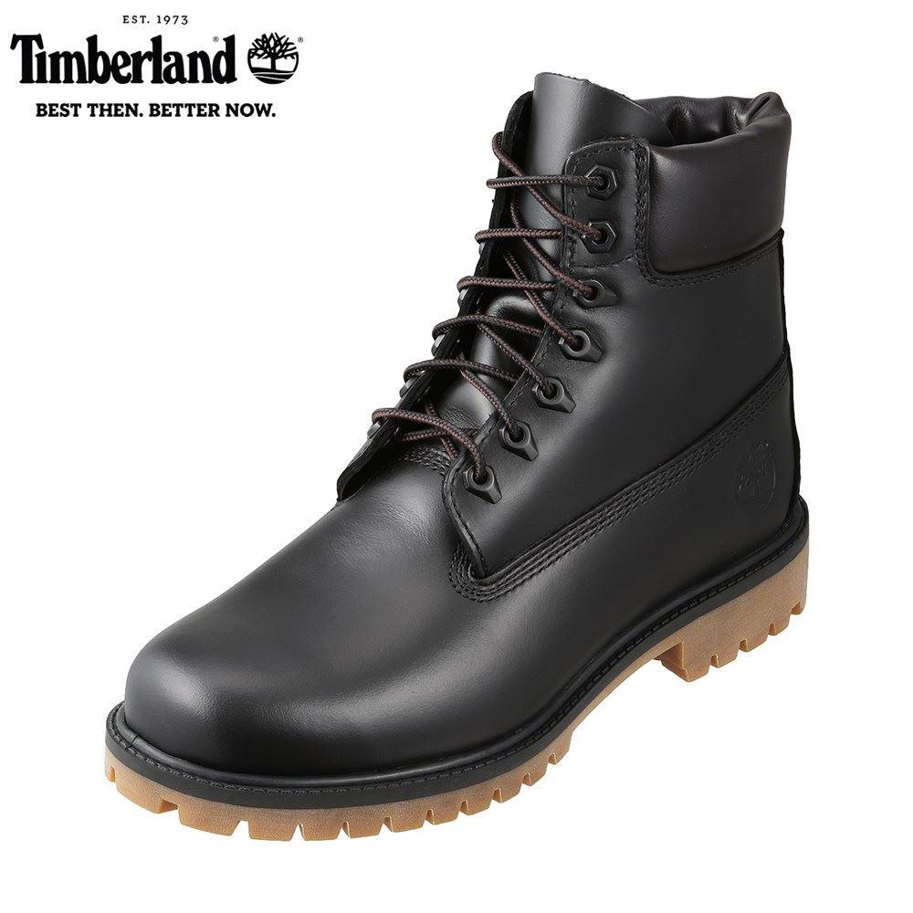 ティンバーランド Timberland TIMB A22WK メンズ靴 3E相当 ブーツ 防水 ウォータープルーフ シックスインチブーツ 6インチ 本革 レザー ブラック SP