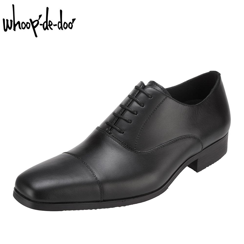 フープ ディ ドゥ whoop'-de-doo' 306503S メンズ靴 ビジネスシューズ 撥水 はっ水 ストレートチップ 本革 レザー ブラック SP