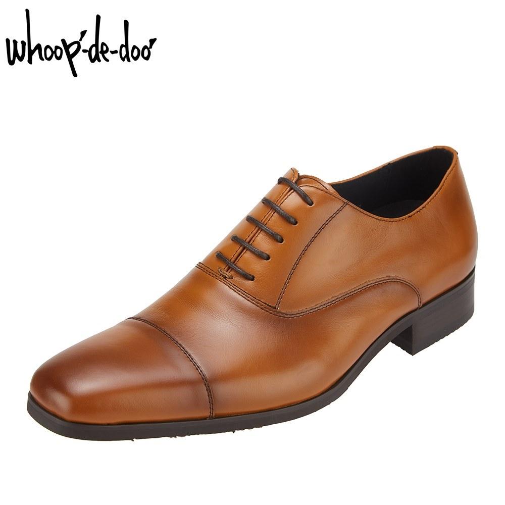 フープ ディ ドゥ whoop'-de-doo' 306503S メンズ靴 ビジネスシューズ 撥水 はっ水 ストレートチップ 本革 レザー キャメル SP