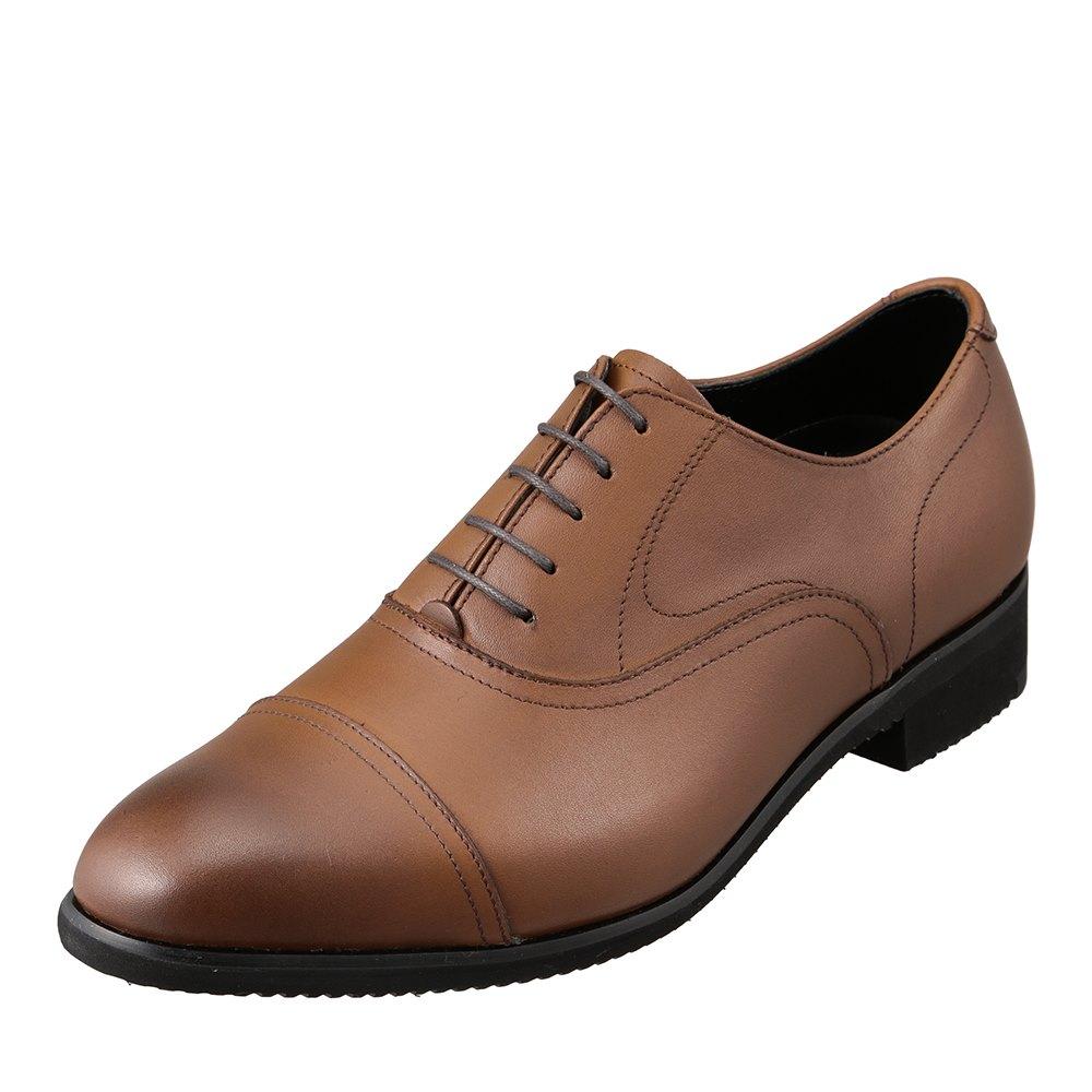 ヒロミチナカノ hiromichi nakano 422H メンズ靴 3E相当 ビジネスシューズ 軽量 ビブラムソール ストレートチップ 小さいサイズ対応 ブラウン SP