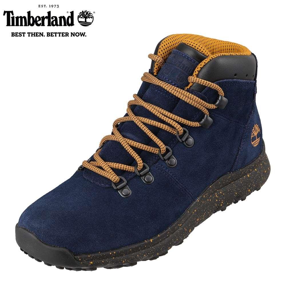 ティンバーランド Timberland TIMB A2177 メンズ靴 3E相当 ブーツ アウトドア World Hiker Mid 本革 レザー ネイビー SP