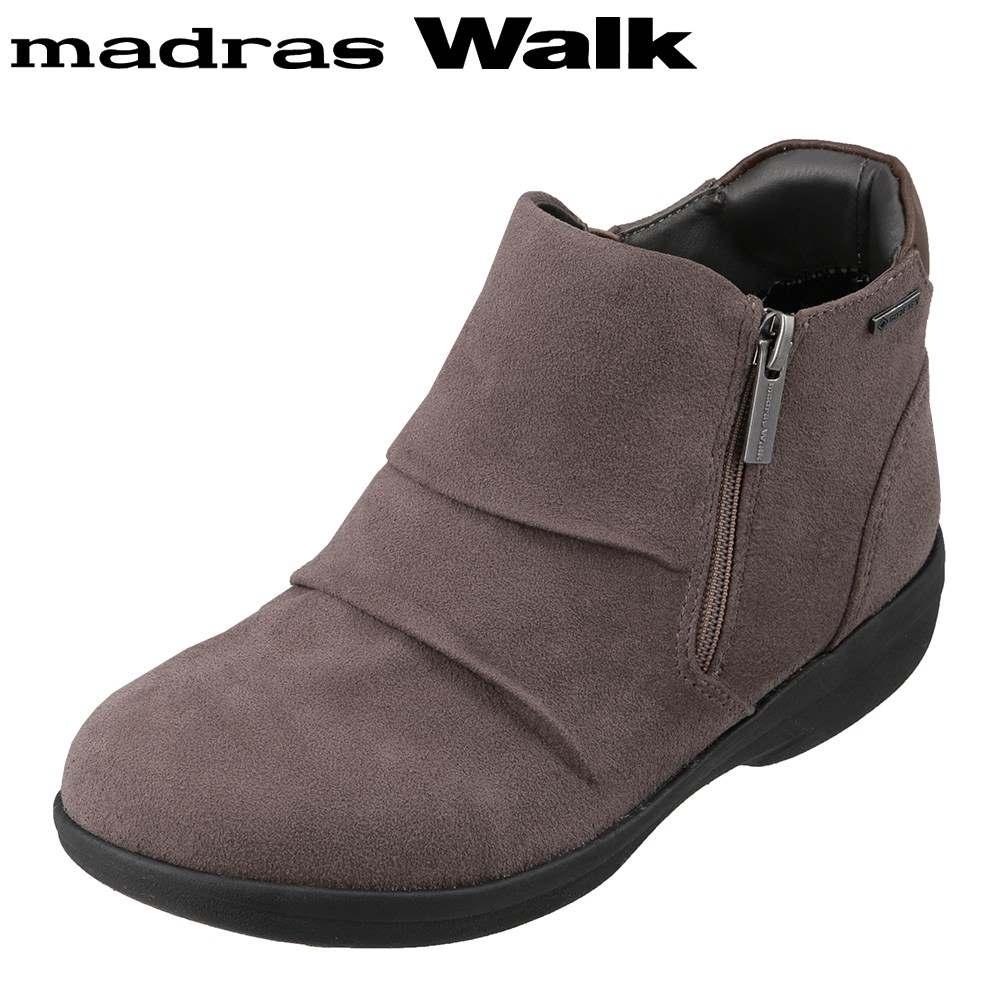 マドラスウォーク madras Walk MWL2112 レディース靴 4E相当 ブーツ ショートブーツ 防水 雨の日 ゴアテックス 透湿 蒸れにくい オーク SP