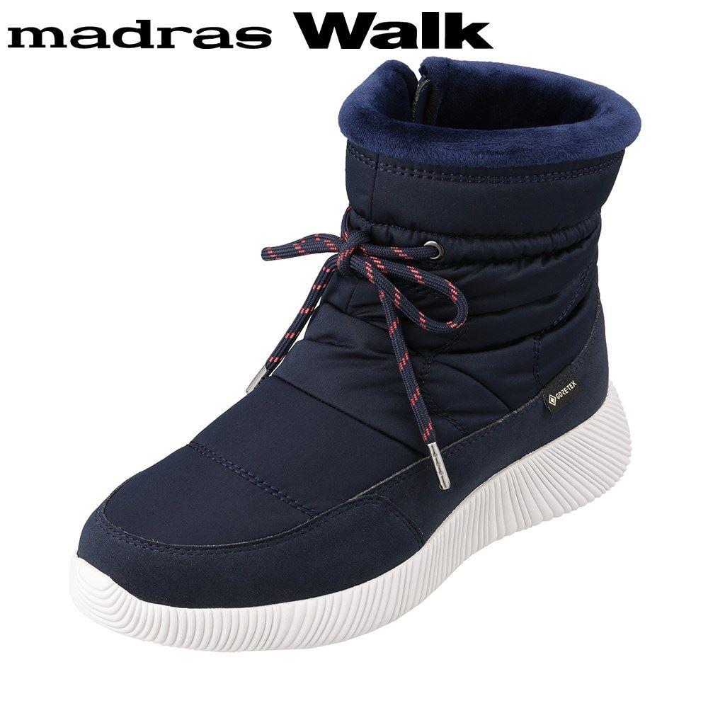 マドラスウォーク madras Walk MWL2203 レディース靴 3E相当 ブーツ ショートブーツ 防水 雨の日 ゴアテックス 透湿 蒸れにくい ネイビー SP