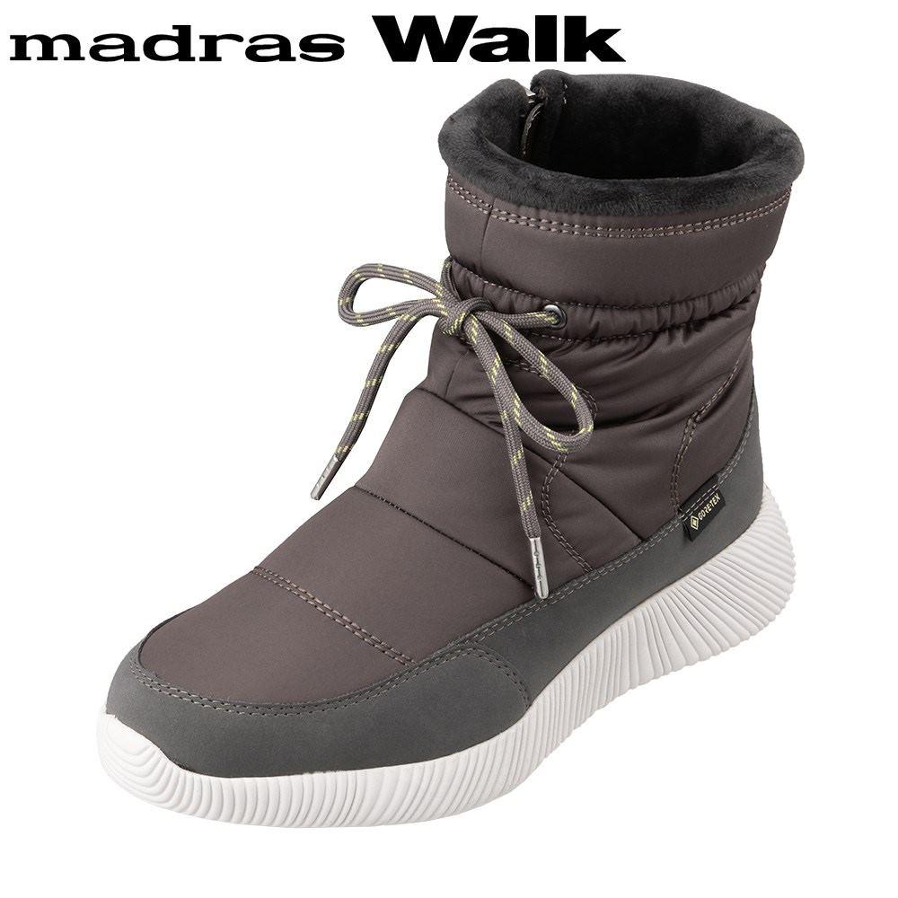 マドラスウォーク madras Walk MWL2203 レディース靴 3E相当 ブーツ ショートブーツ 防水 雨の日 ゴアテックス 透湿 蒸れにくい グレー SP