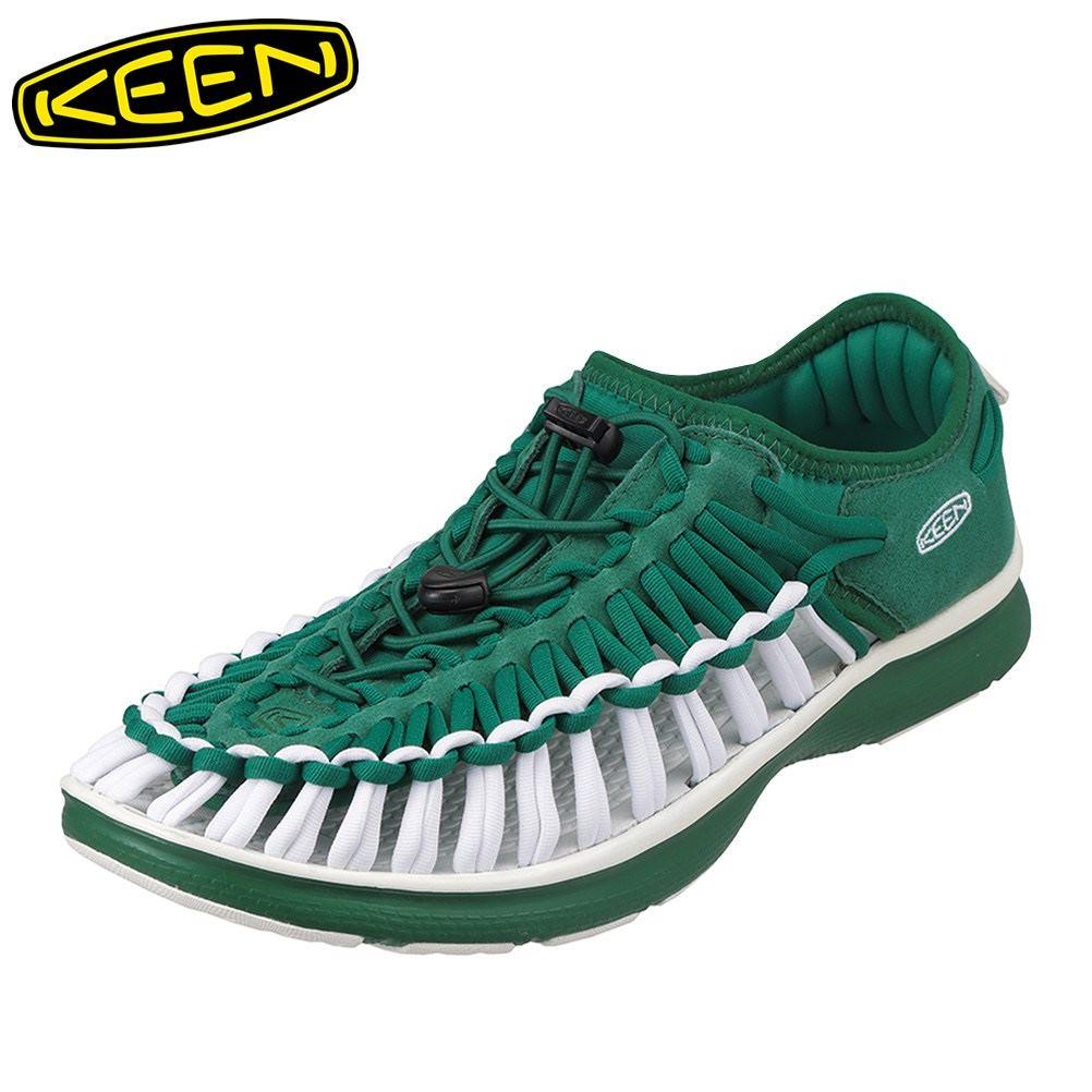 キーン KEEN 1021991 メンズ靴 靴 シューズ 2E相当 スニーカー 軽量 軽い UNEEK O2 ユニーク オーツー 小さいサイズ対応 大きいサイズ対応 グリーン SP