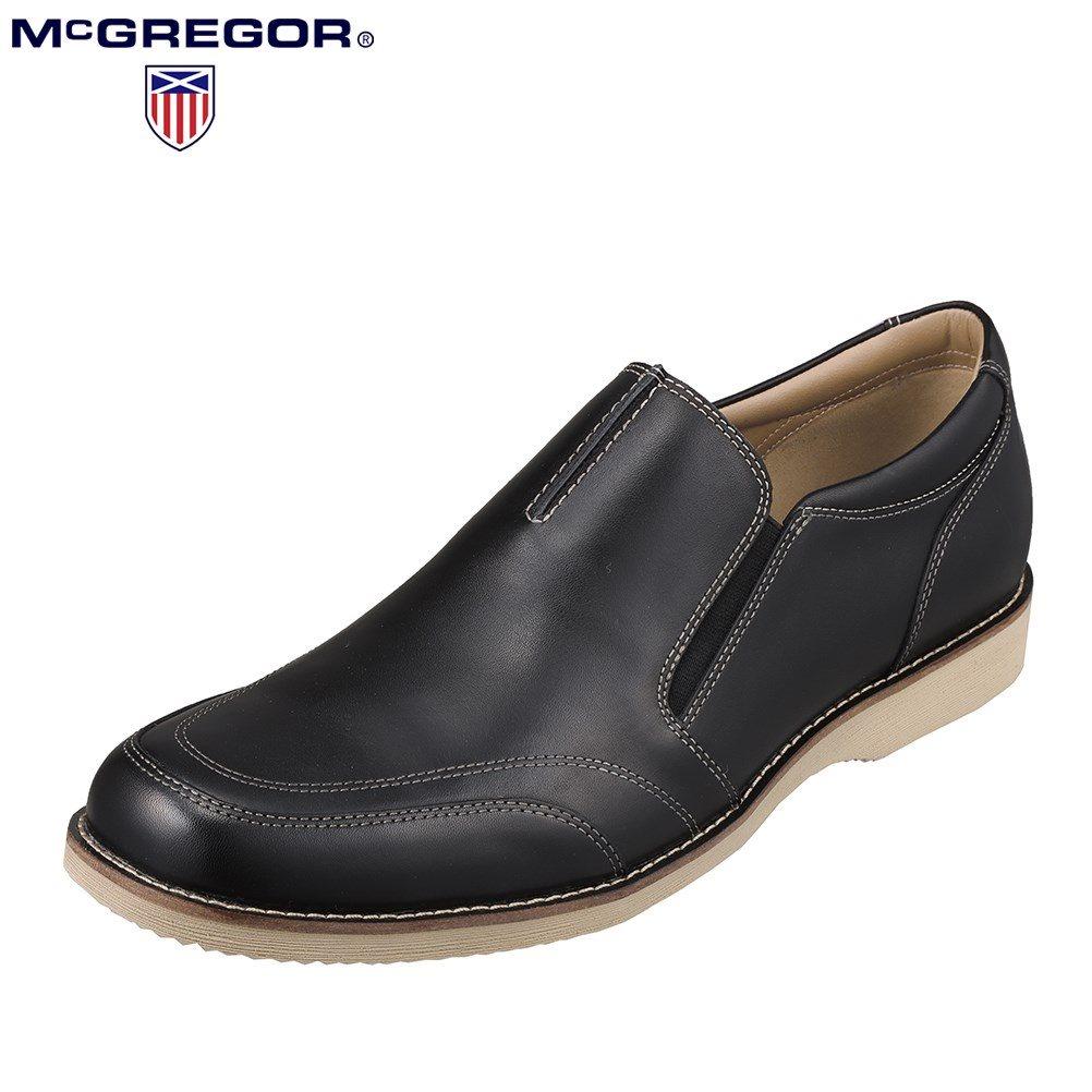 3000円以上送料無料 4000アイテム以上取扱 全国に400店舗以上を展開する チヨダ OUTLET SALE グループ の SHOE PLAZA シュープラザ マックレガー McGREGOR MC8012 国内正規品 靴 インソール ブラック シューズ カジュアルシューズ メンズ靴 3E相当 レザー 低反発 本革 小さいサイズ対応 SP