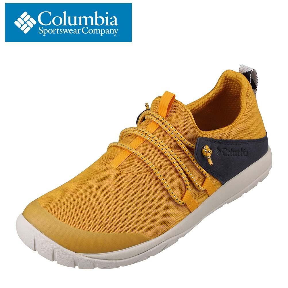 コロンビア columbia YU0311 メンズ靴 靴 シューズ 2E相当 アウトドアシューズ キャンプ 防水 雨の日 かかと 踏める 2WAY イエロー SP