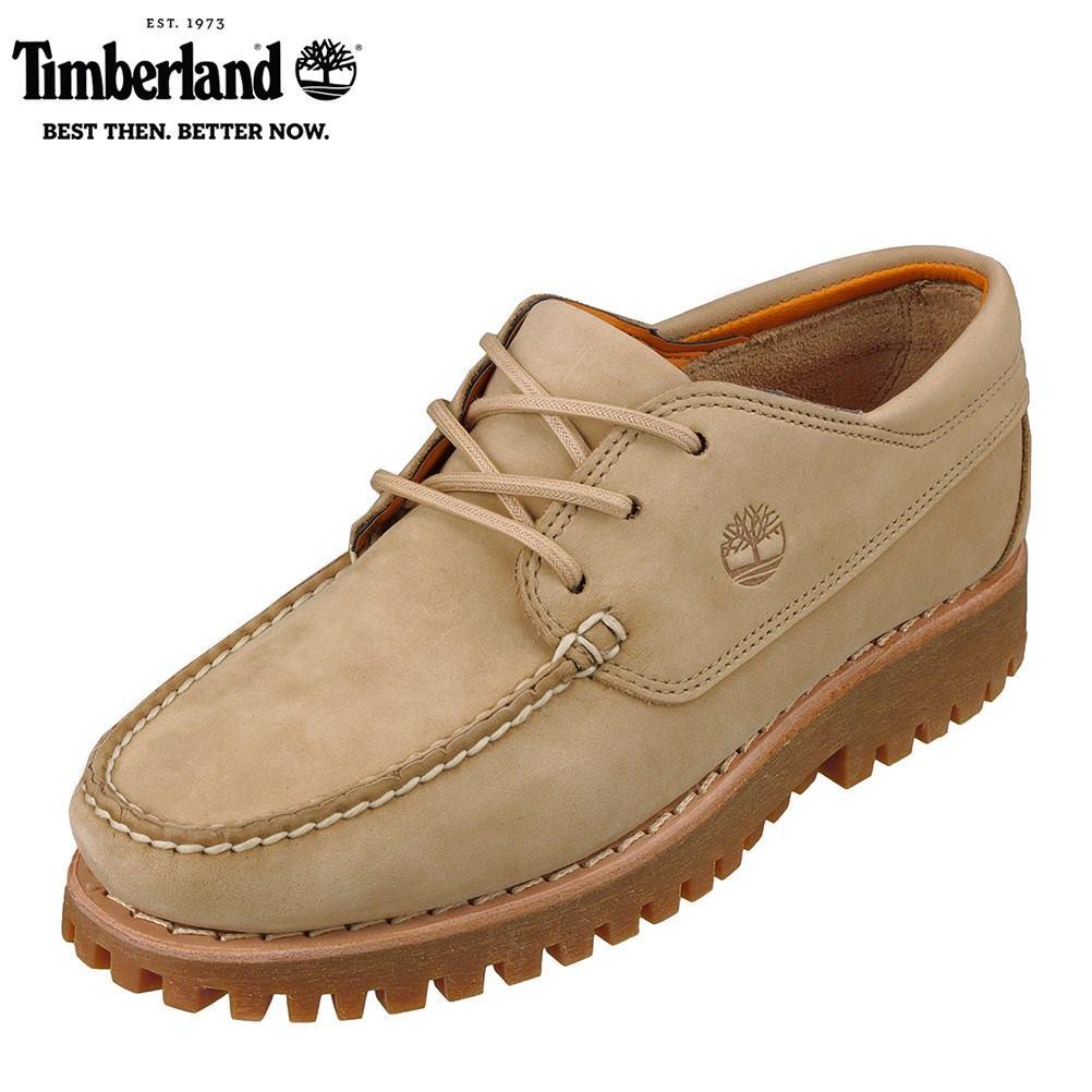 ティンバーランド Timberland TIMB A2CHN メンズ靴 靴 シューズ 2E相当 カジュアルシューズ デッキタイプ 本革 レザー ベージュ SP